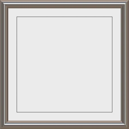 matte: shiny metal frame with white matte for certificates, awards or photos Stock Photo