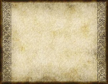 arabesco: Grunge antiguo pergamino y marcado con el dise�o ornamental