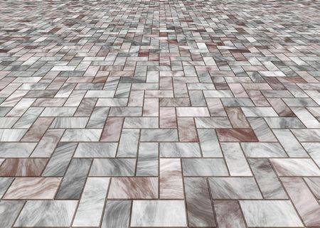 pave: paved stone or marble tiles on the floor