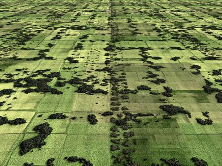 fragmented: aerial image of agricultural fields and fragmented farming land