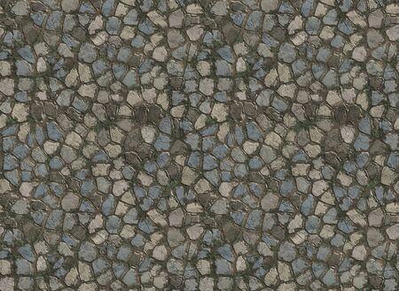 adoquines: antiguos adoquines de piedra en el camino o ruta Foto de archivo