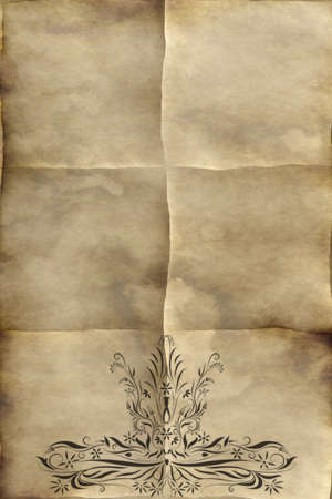 regal: background image of old paper or parchment with regal design