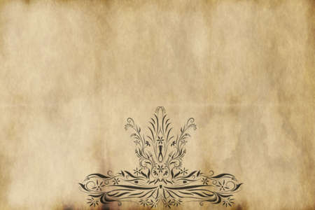 regal: regal style design printed on old paper
