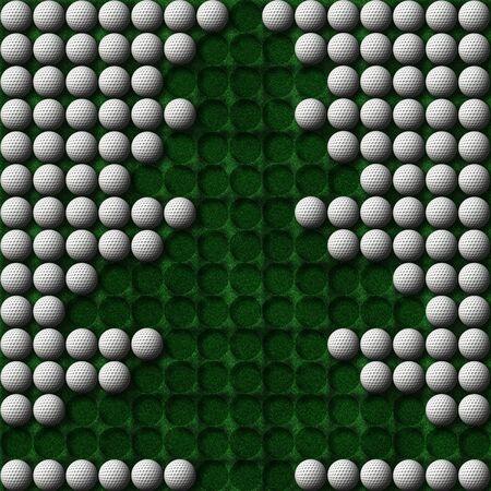 christmas golf: christmas tree made of golf balls