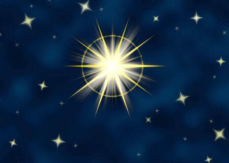 brightest: grande stella flare o brillante stella di natale