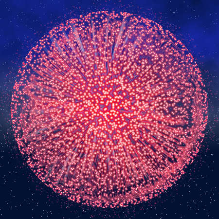 fawkes: a single big pink round explosion from fireworks