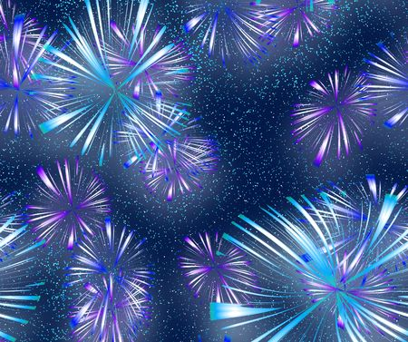 fawkes: big bright explosive fire works in the night sky