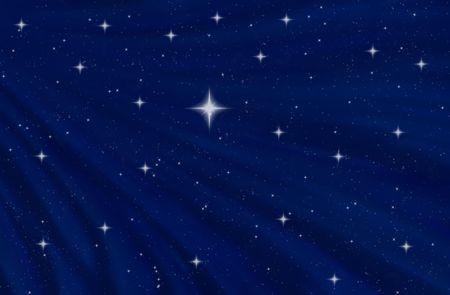 starry night: abstract image of nice blue starry night sky Stock Photo
