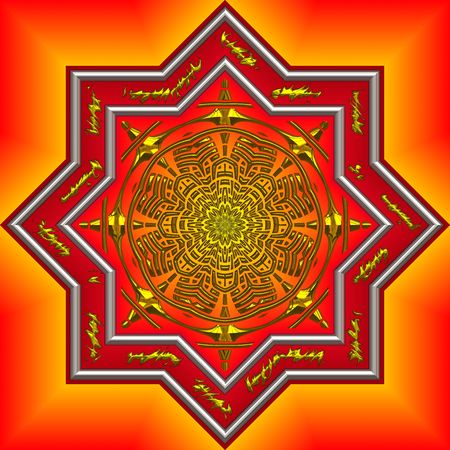 beautifully: big bright and beautifully intrique mandala design Stock Photo