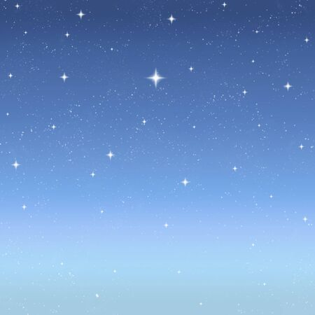come: stars come out in a clear sky just after the sun has gone down