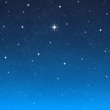 night out: a single bright wishing star stands out from all the rest