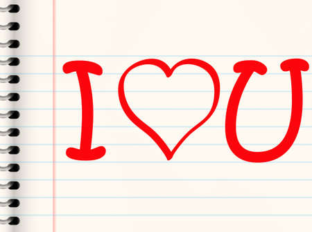 casual love or valentines message written in texta in a book photo