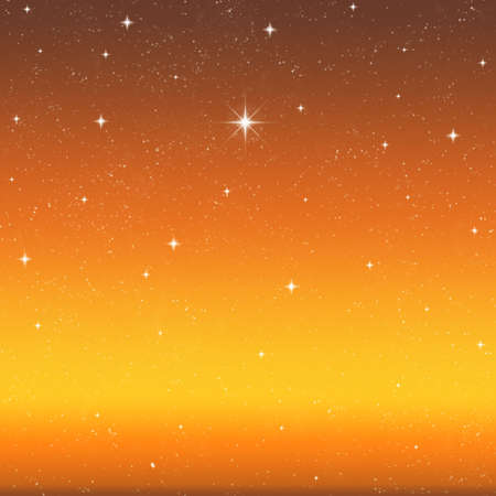 a single bright wishing star stands out from all the rest Stock Photo - 2383109
