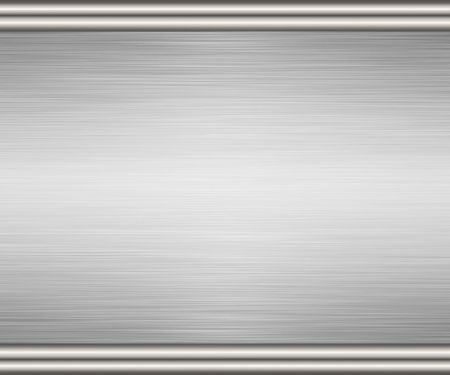 large sheet of brushed metal with turned edging Stock Photo - 2425364