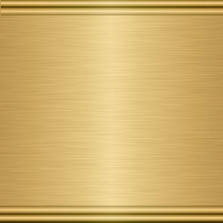 placa bacteriana: hoja grande del oro cepillado con el ribete dado vuelta Foto de archivo