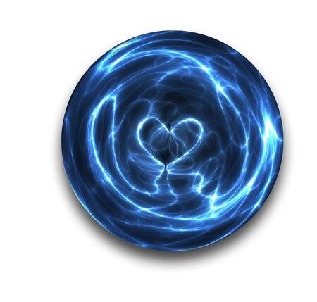 bola de cristal: un amor del coraz�n se ve chispas y los arcos de esta bola de cristal