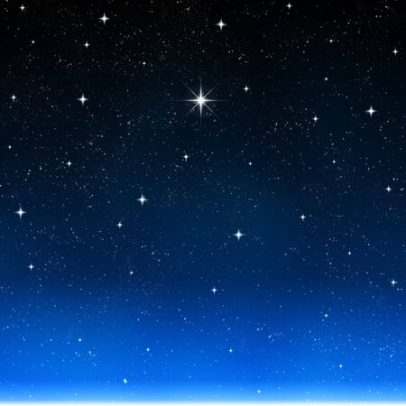 a single bright wishing star stands out from all the rest photo