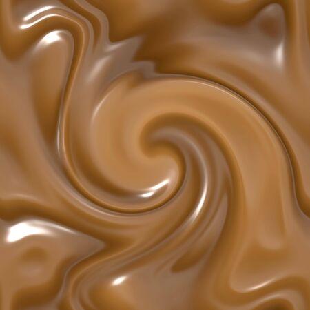 image of beautiful melting milk chocolate