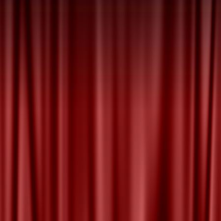 theatre curtain: large red theatre curtain as a background Stock Photo