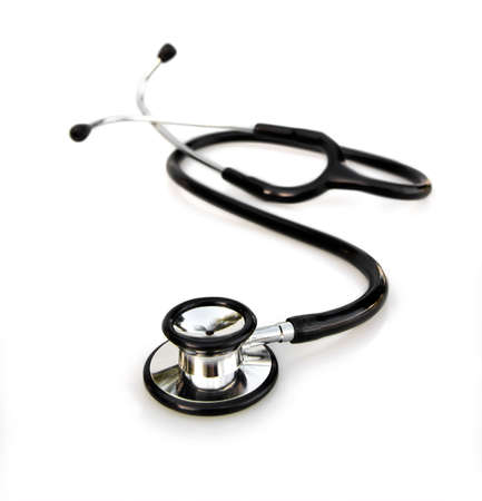 doctor or physicians stethoscope on white background photo