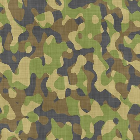 close up of camouflage pattern material or clothing Stock Photo