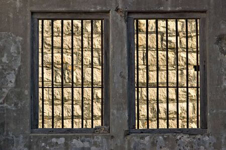 hopeless outside the jail cell is a stone wall Stock Photo - 2567663
