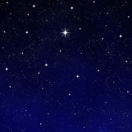 a single bright wishing star stands out from all the rest Stock Photo - 2602020