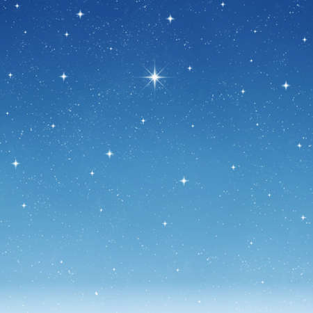 wishing: a single bright wishing star stands out from all the rest