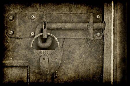big old lock keeps this door shut photo