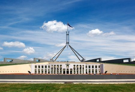 canberra: australian parliament house for the federal government in canberra