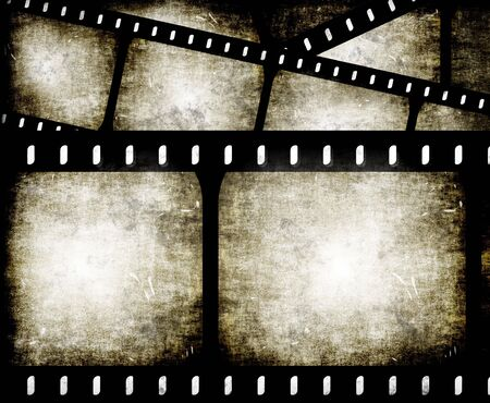 bollywood: abstract composition of movie frames or film strip