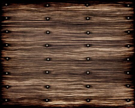 weathered wood: old worn and weathered planks of wood with rivets