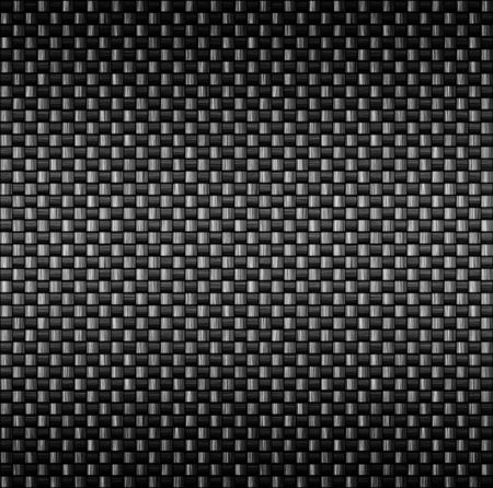 detailed tightly woven carbon fibre background texture Stock Photo