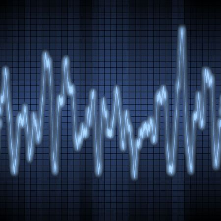 great image of a blue audio or sound wave Stock Photo - 3112713