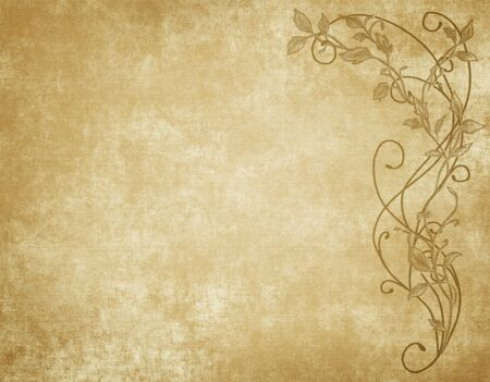 large image of floral paper canvas or parchment Stock Photo