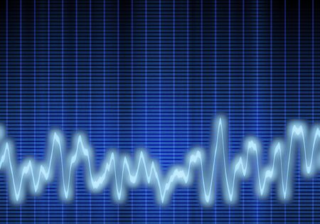oscillations: great image of a blue audio or sound wave Stock Photo