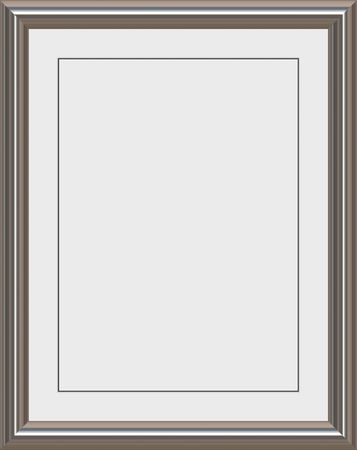 shiny metal frame with white matte for certificates, awards or photos photo