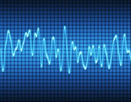 oscilloscope: grande immagine di un suono elettronico sine o audio onda