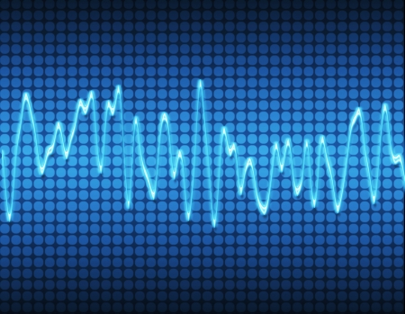audio wave: large image of an electronic sine sound or audio wave