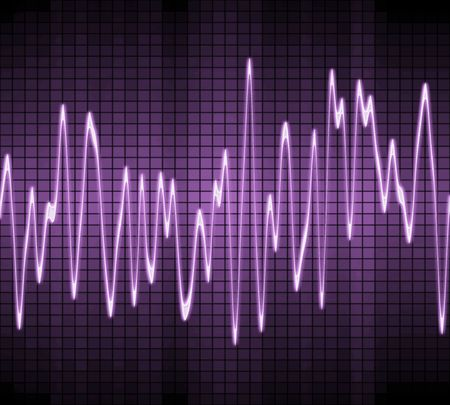 vibration: large image of an electronic sine sound or audio wave in purple
