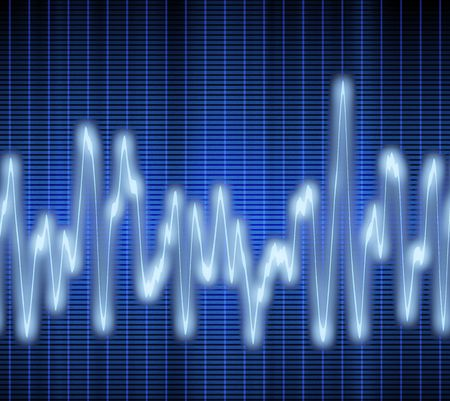 great image of a blue audio or sound wave Stock Photo - 3228801