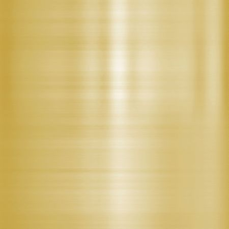very finely brushed gold metal background texture Stock Photo