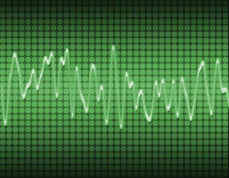 wellenl�nge: gro�es Bild von einem elektronischen Sound-oder Audio-Sinus-Welle in gr�n Lizenzfreie Bilder