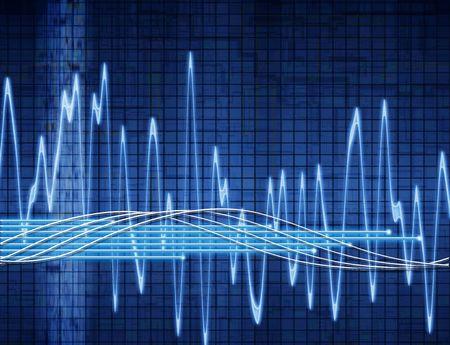 oscilloscope: astratto onda sonora