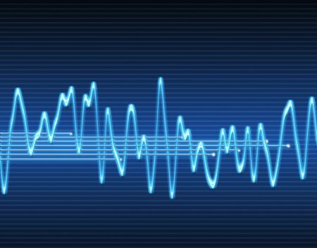 oscillations: large image of an electronic sine sound or audio wave
