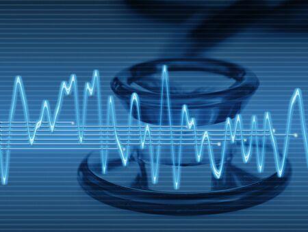 wellenl�nge: gro�es Bild eines elektronischen Sinus-Ton-oder Audio-Welle