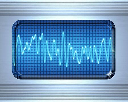 sound or audio wave in metal panel Stock Photo - 3239055