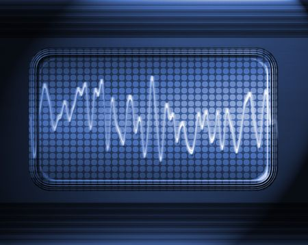 sound or audio wave in metal panel Stock Photo - 3239049