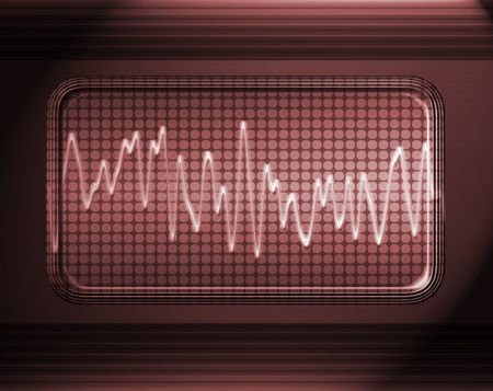 sound or audio wave in metal panel Stock Photo - 3259784