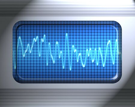 oscillations: sound or audio wave in metal panel Stock Photo